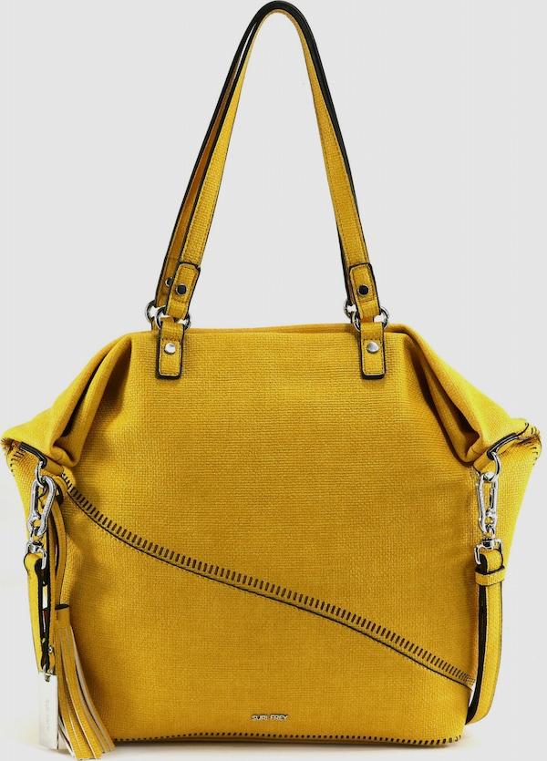 Modische Shopper Tasche aus hochwertigem Kunstleder von Suri Frey in Web-Optik. Sie bietet viel Platz mit dem geräumigen Hauptfach mit diversen Steck- sowie Reißverschlussfächer und ein bequemes Tragegefühl mit dem verstell- und abnehmbaren Umhängeriemen. Der perfekte Begleiter für die moderne Frau.