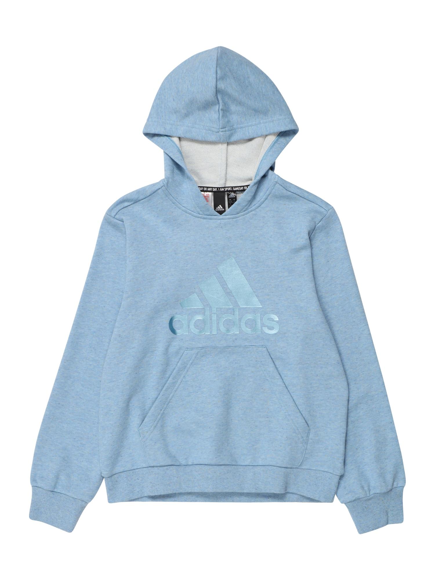 ADIDAS PERFORMANCE Sportinio tipo megztinis mėlyna dūmų spalva