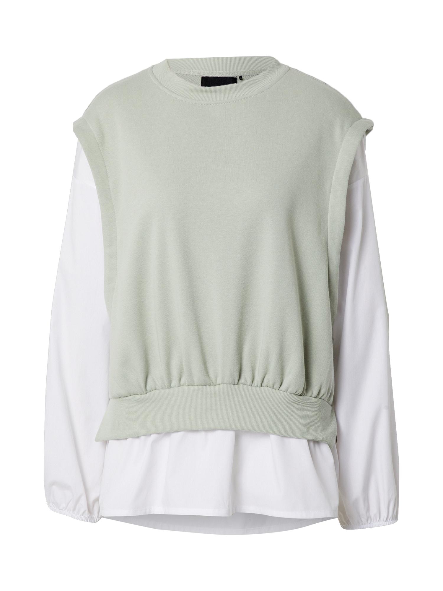 Pieces (Tall) Megztinis be užsegimo pastelinė žalia / balta