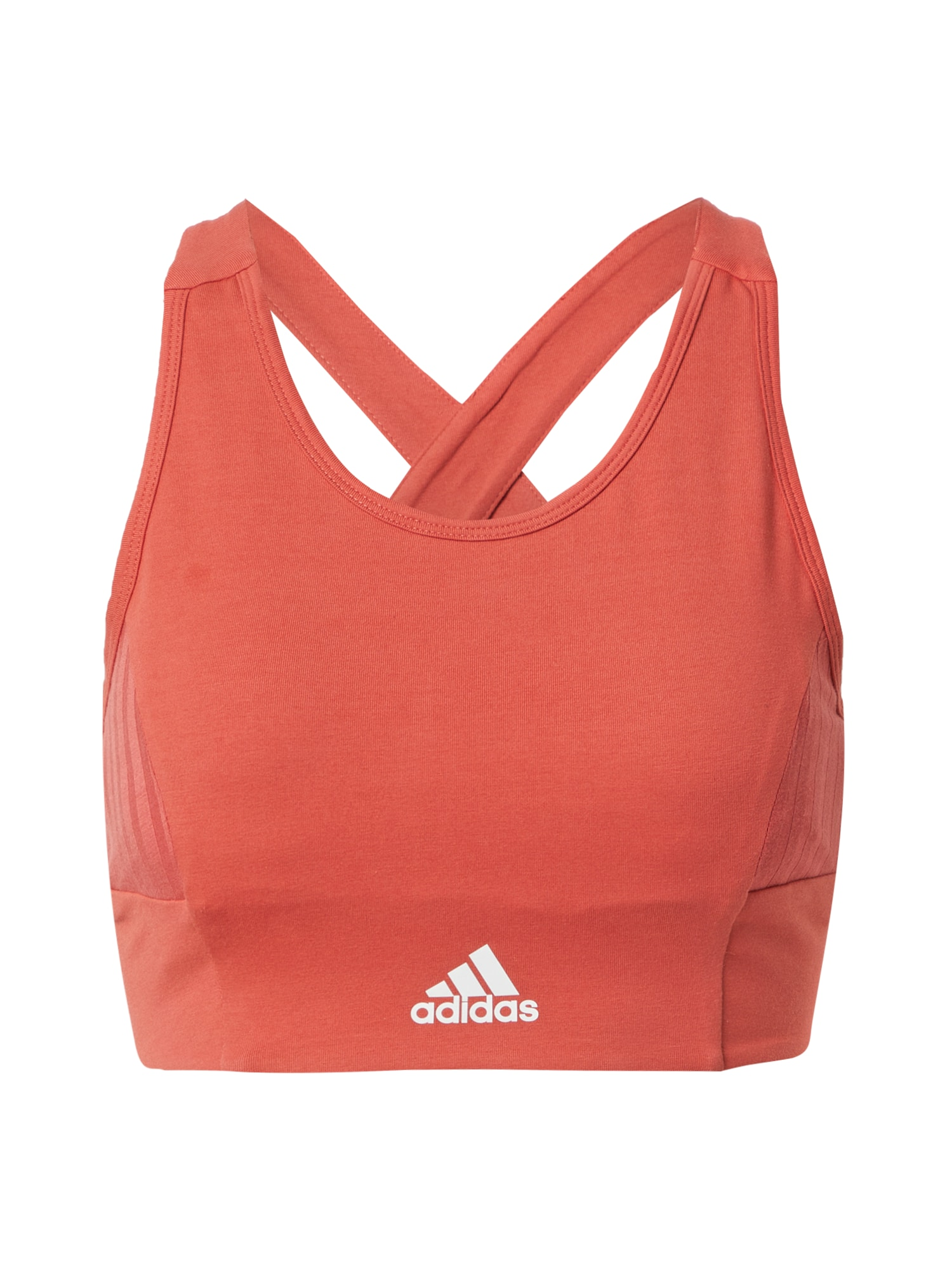 ADIDAS PERFORMANCE Sportinė liemenėlė oranžinė-raudona / balta