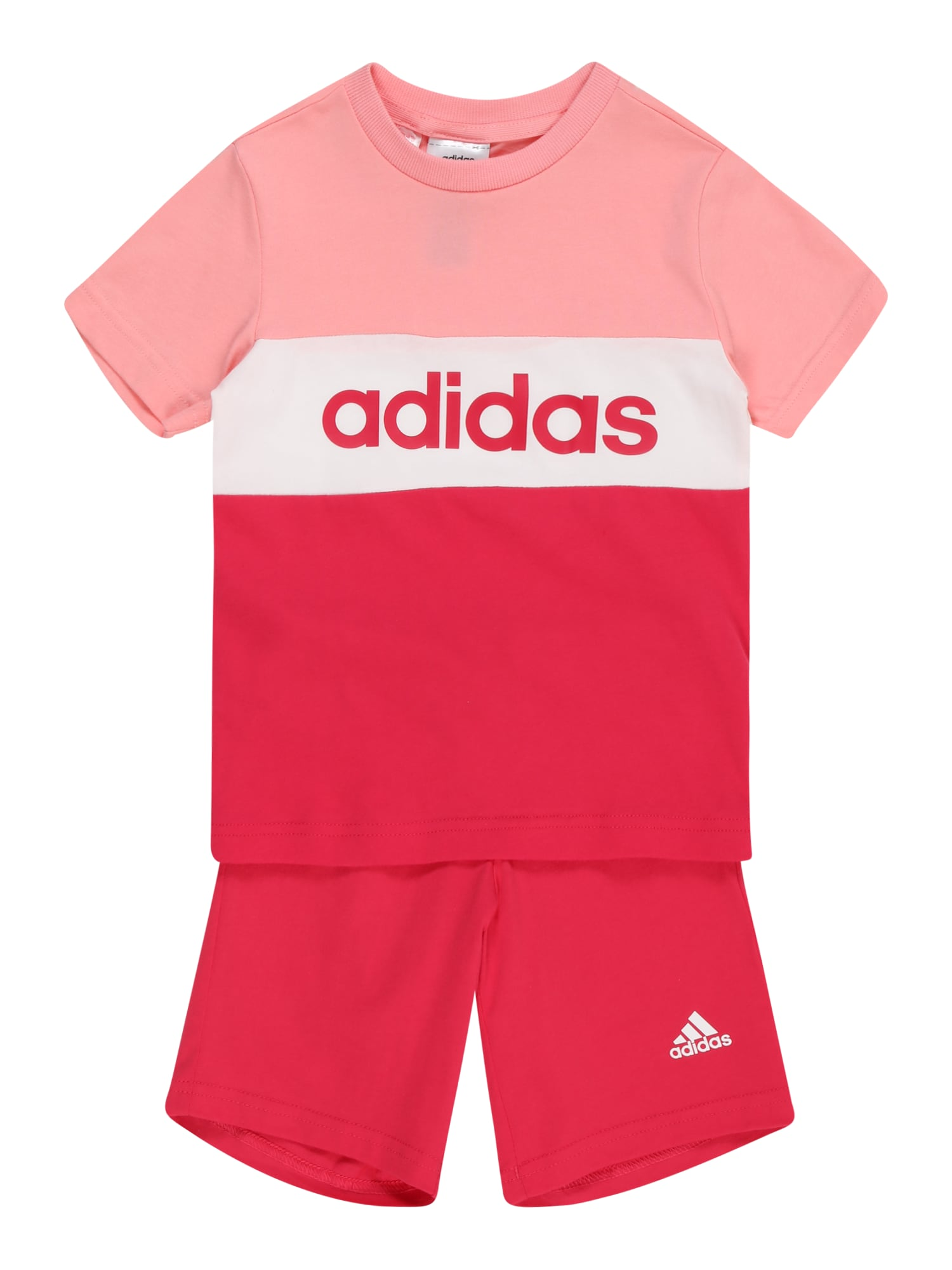 ADIDAS PERFORMANCE Sportinis kostiumas rožinė / balta / rožių spalva