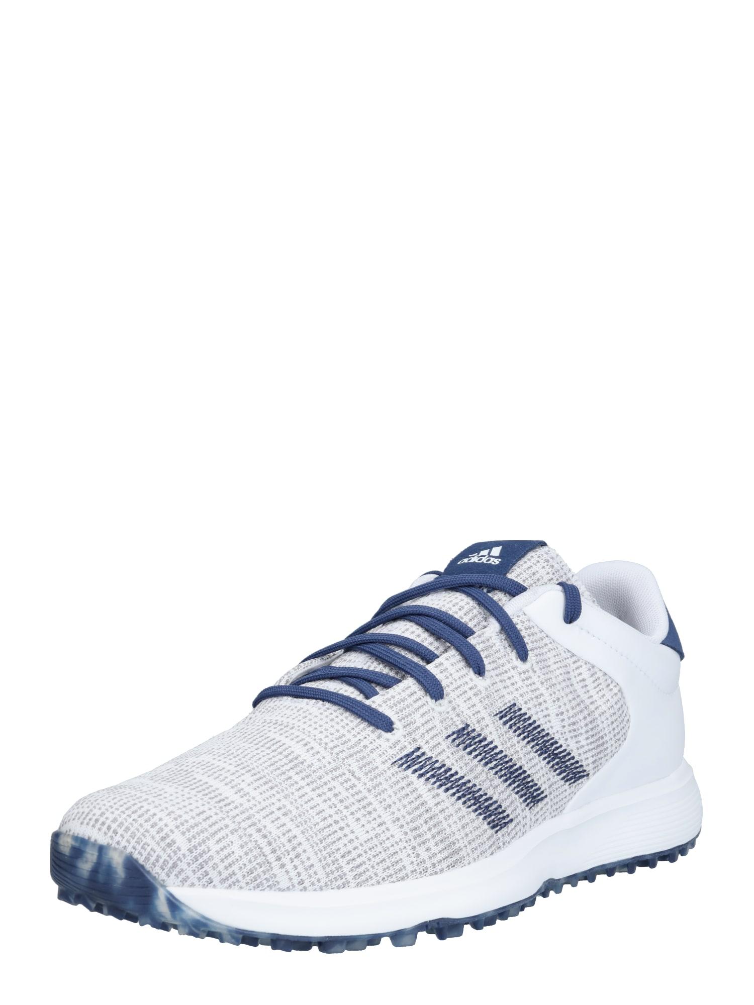 adidas Golf Sportiniai batai tamsiai mėlyna jūros spalva / balta / margai pilka