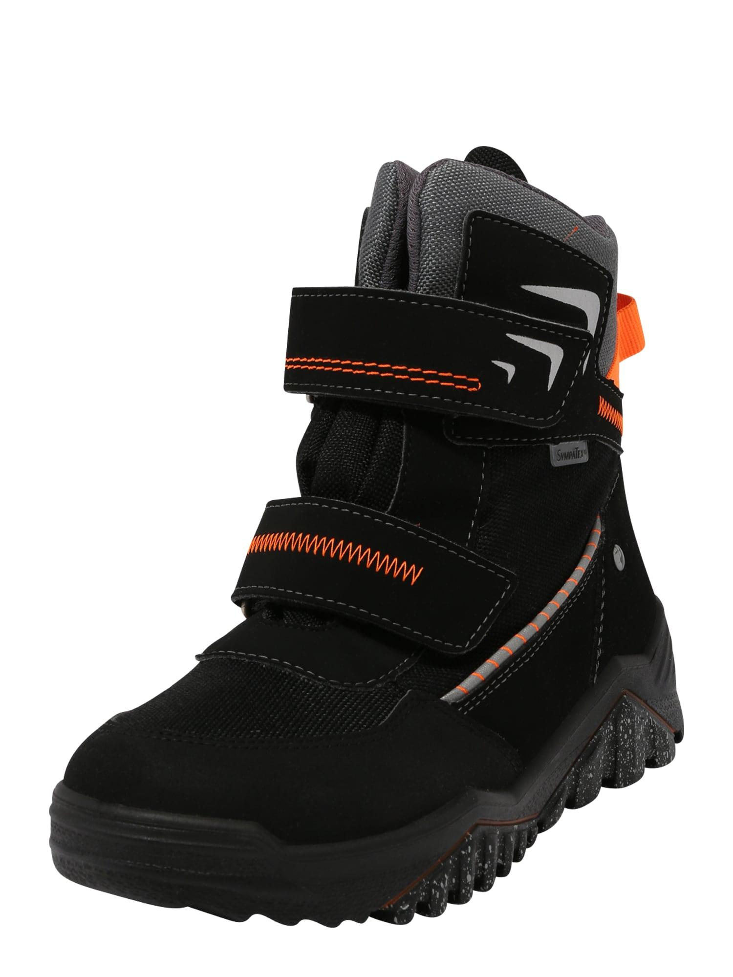 RICOSTA Auliniai batai su kulniuku 'ARCTIC' neoninė oranžinė / juoda / pilka