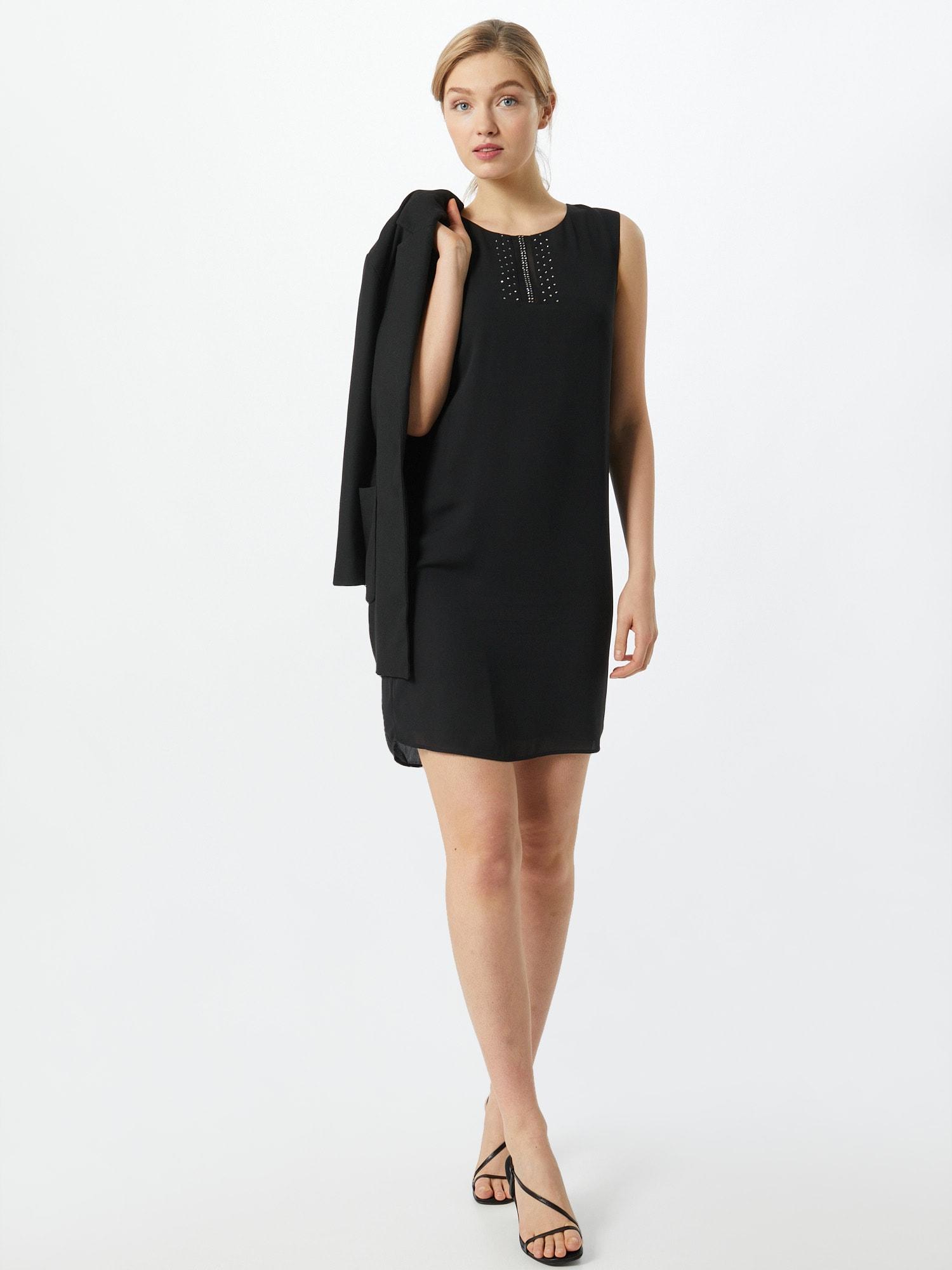 COMMA Kokteilové šaty  čierna.