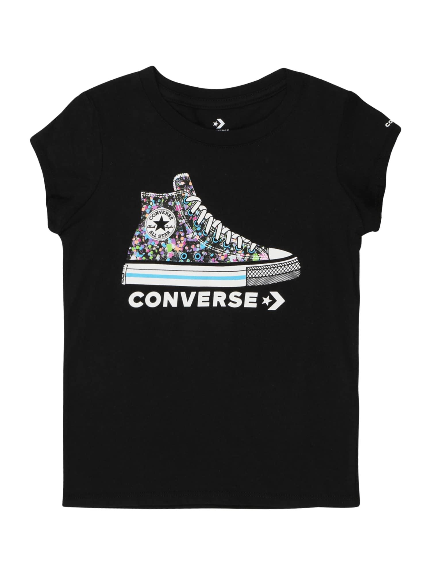 CONVERSE Marškinėliai 'RHINESTONE' juoda / mišrios spalvos