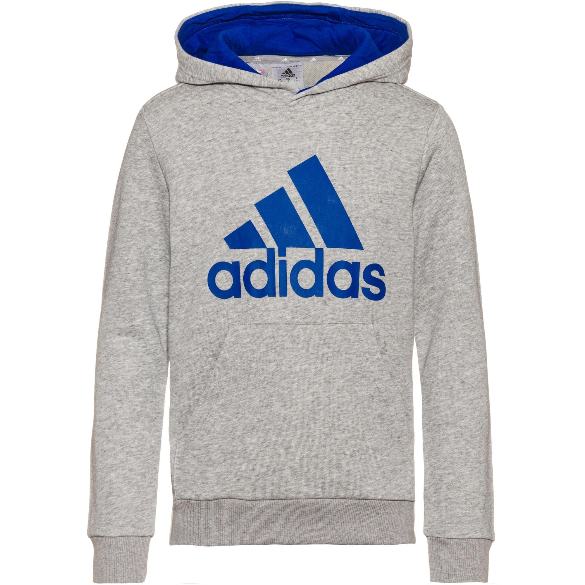 ADIDAS PERFORMANCE Sportinio tipo megztinis mėlyna / pilka