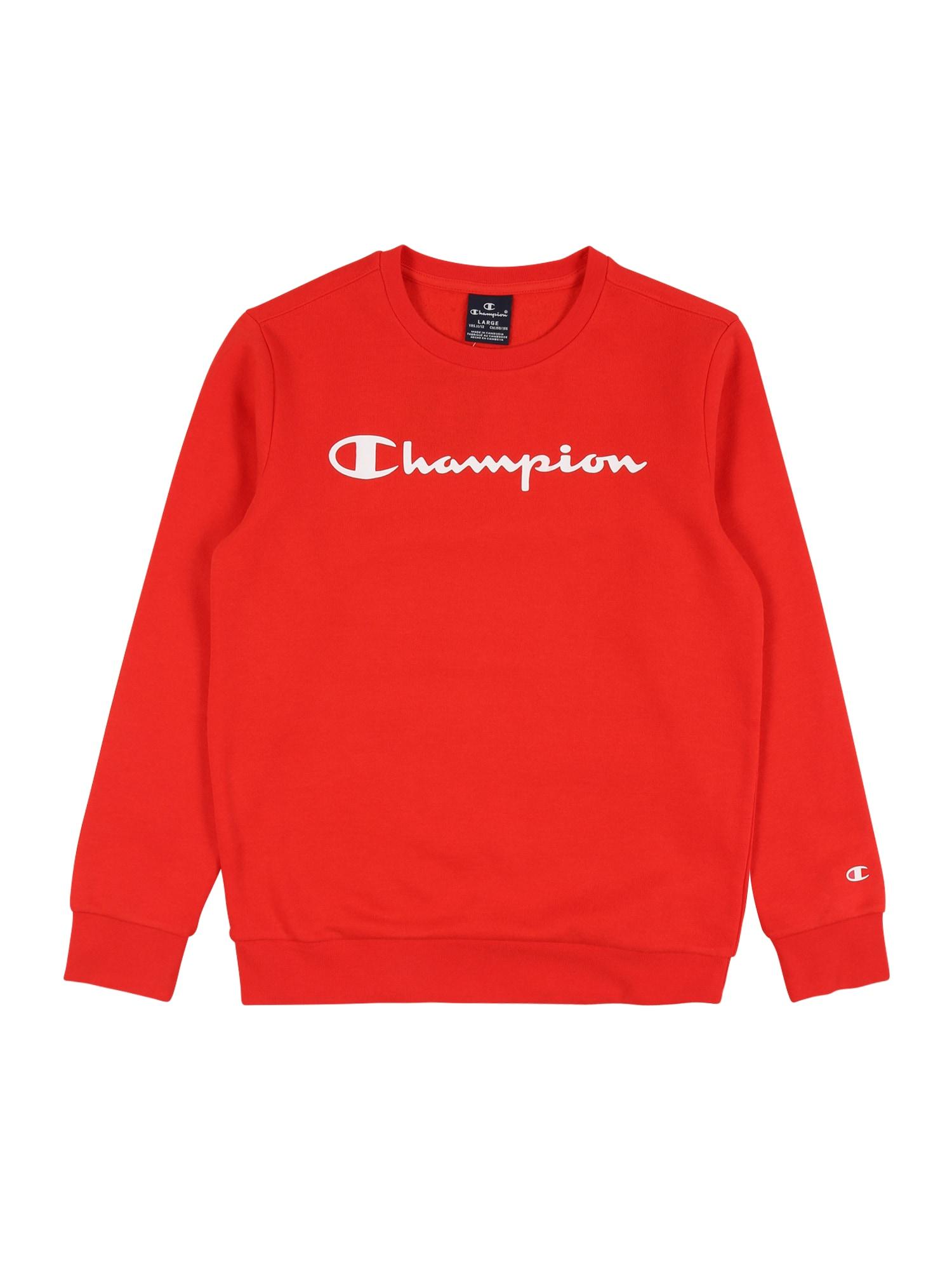 Champion Authentic Athletic Apparel Megztinis be užsegimo raudona / balta