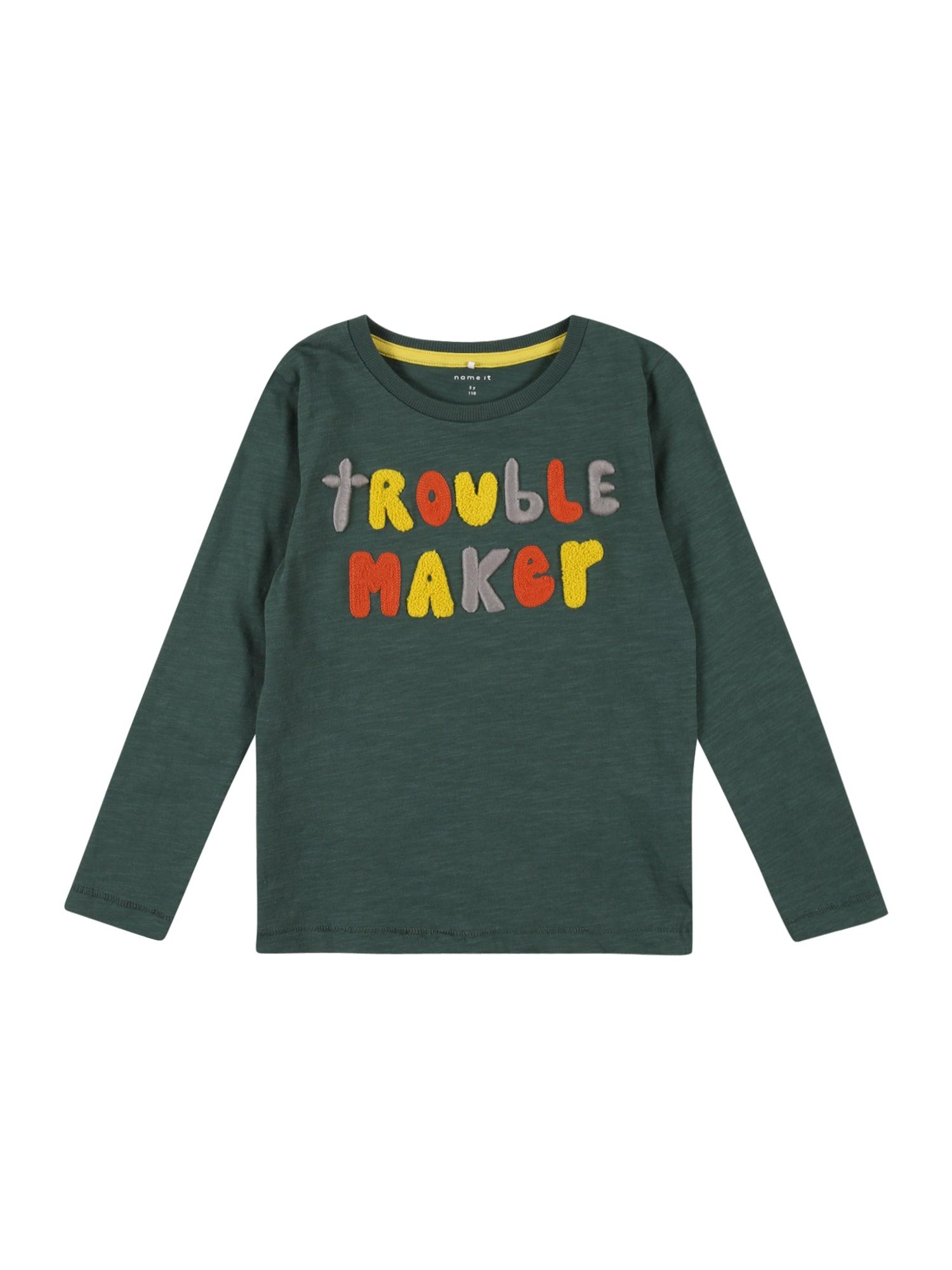 NAME IT Tričko  oranžová / žlutá / zelený melír / pastelová fialová