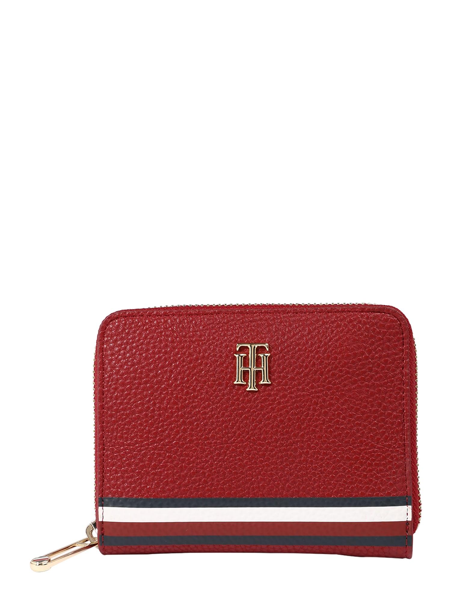 TOMMY HILFIGER Peněženka  červená / bílá / tmavě modrá / stříbrná