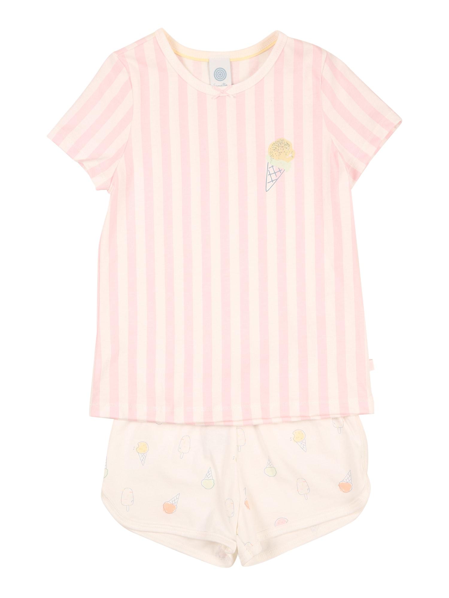 SANETTA Miego kostiumas balta / pastelinė oranžinė / pastelinė žalia / geltona / rožių spalva