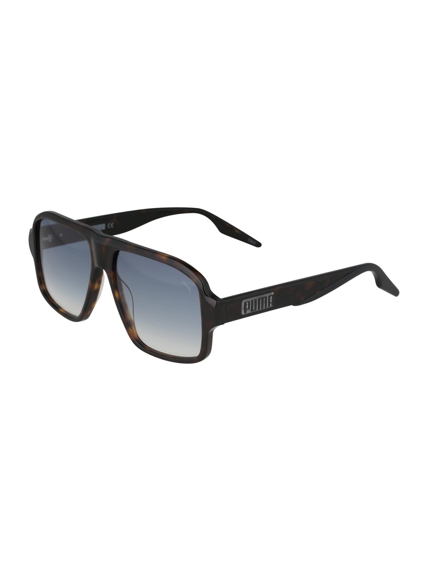 PUMA Sluneční brýle  modrá / hnědá