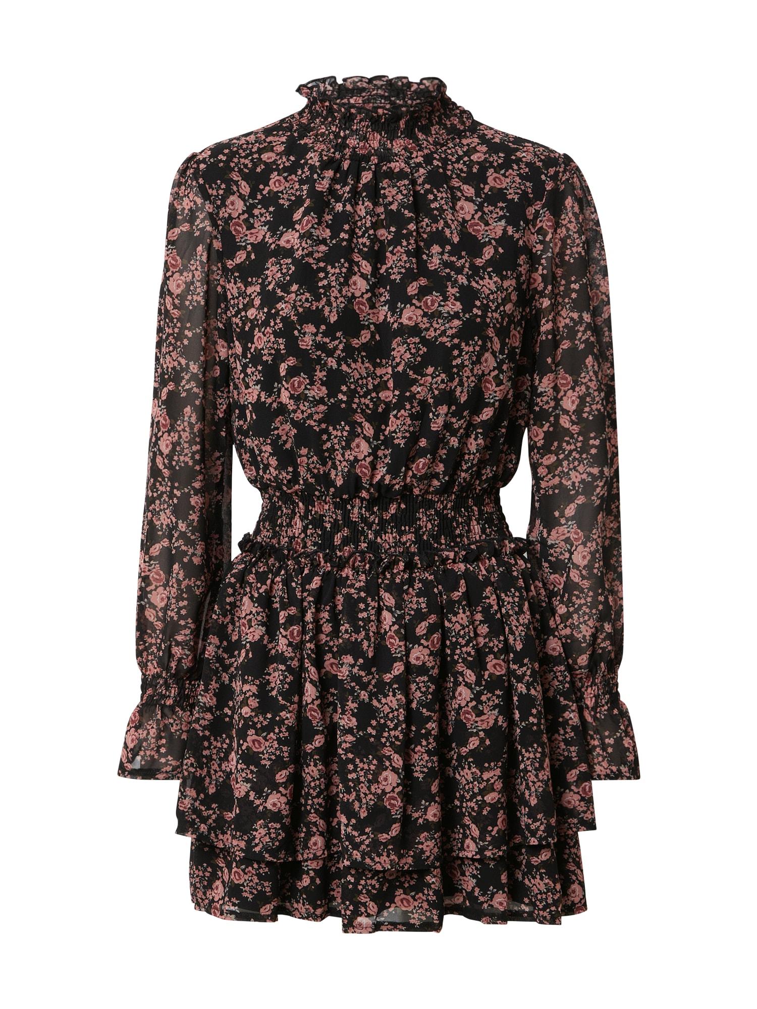 Missguided Šaty  černá / starorůžová