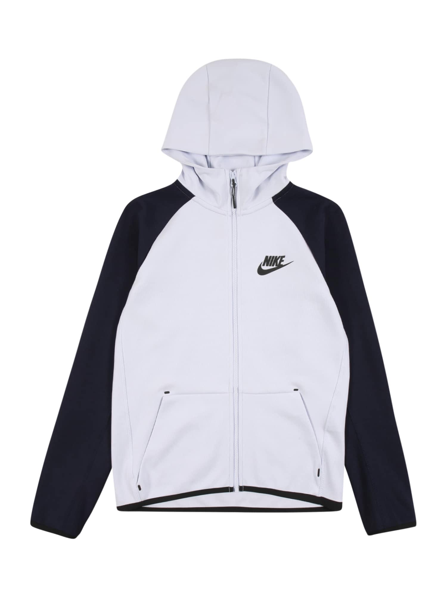 Nike Sportswear Fleecová mikina  černá / šedá