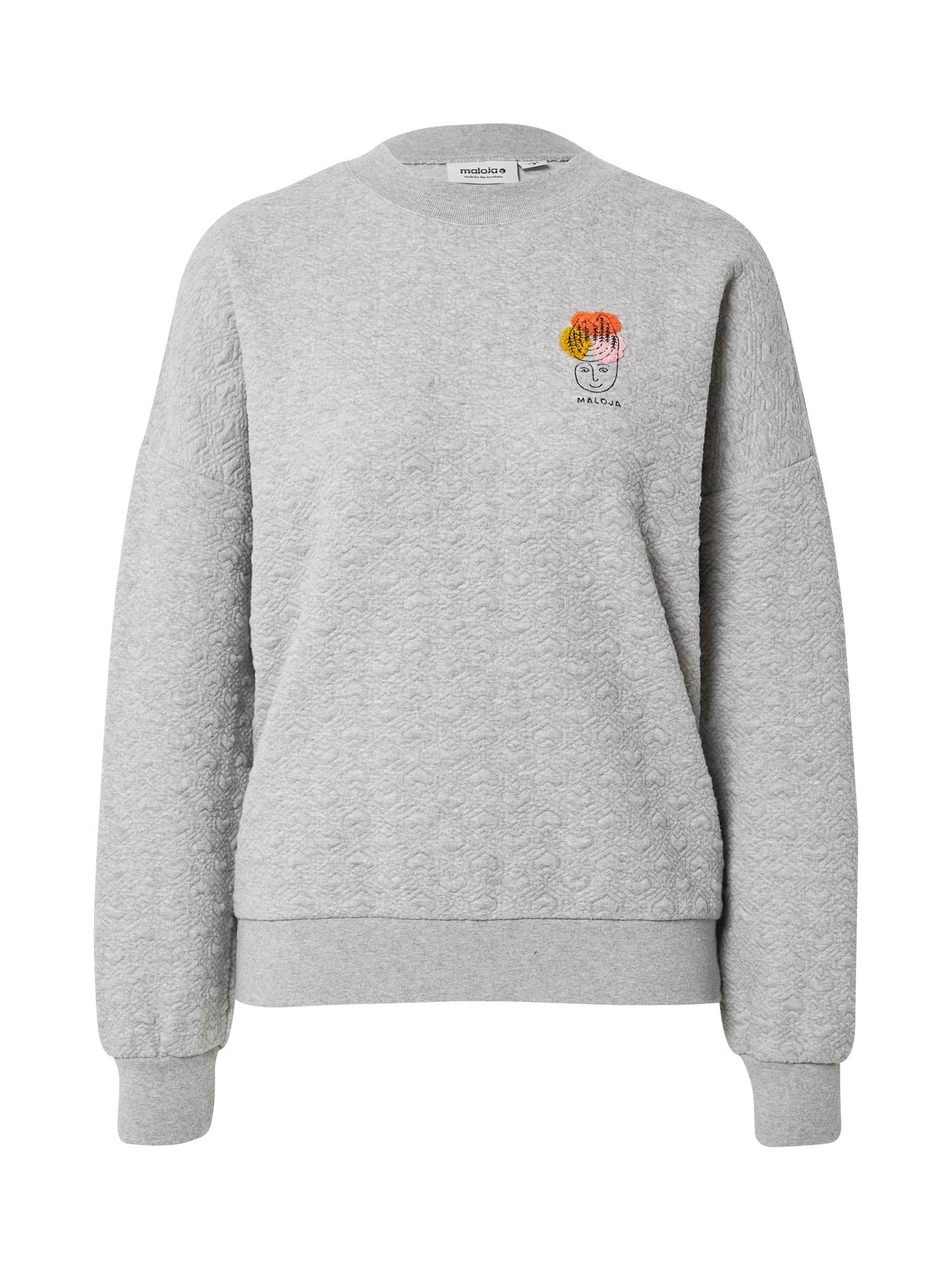 Maloja Sportinio tipo megztinis pilka