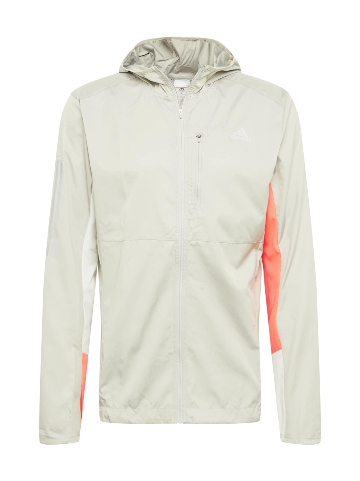 ADIDAS PERFORMANCE Sportovní bunda  oranžová / šedá