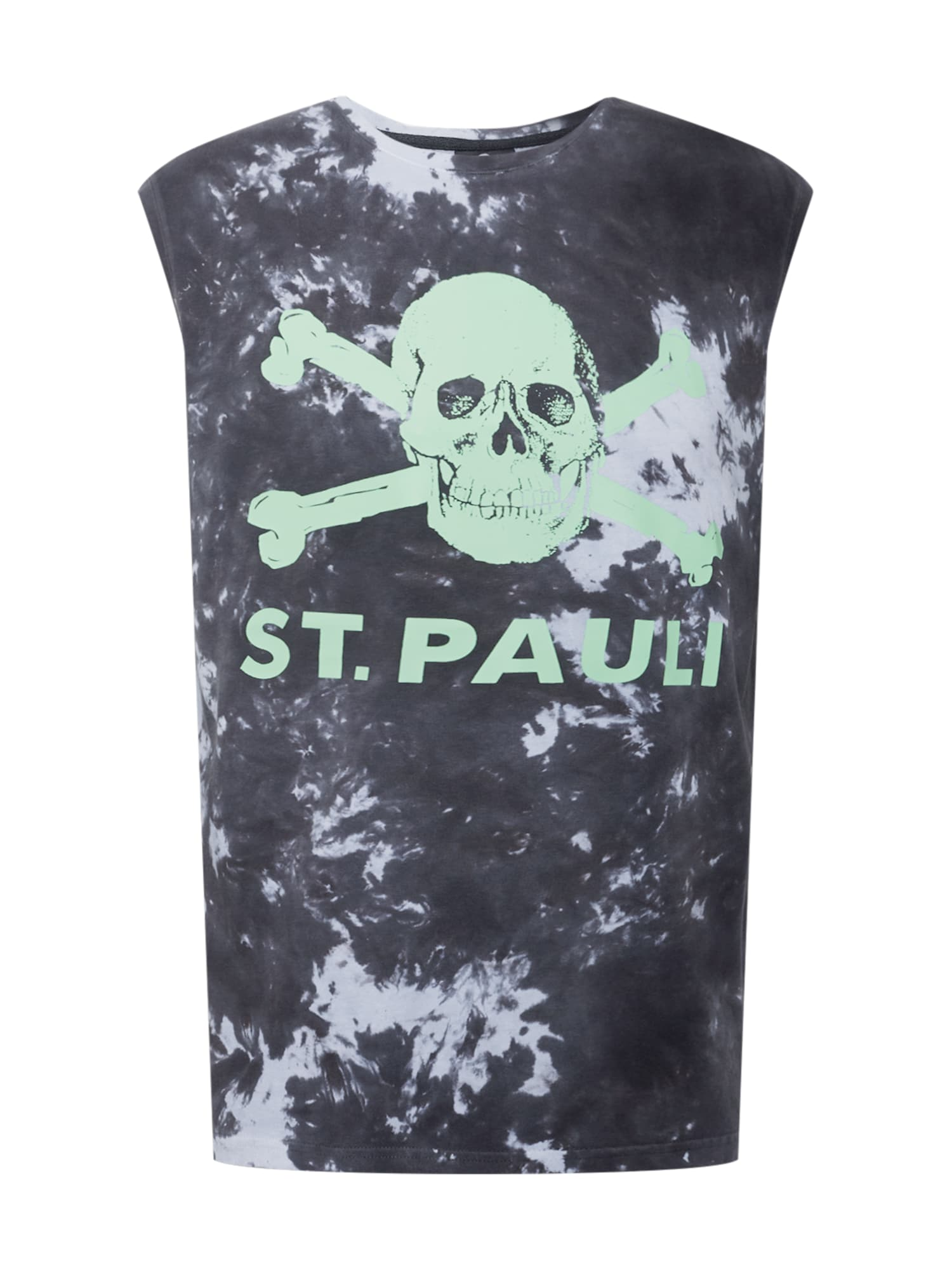 FC St. Pauli Marškinėliai juoda / mėtų spalva