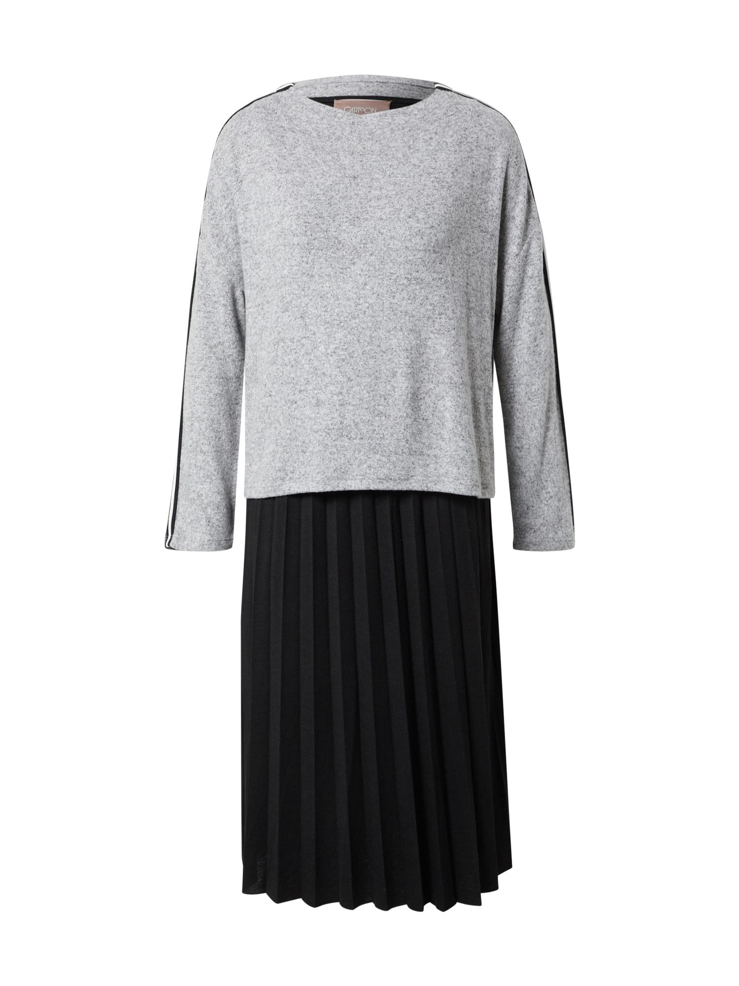 Cartoon Suknelė juoda / margai pilka / balta