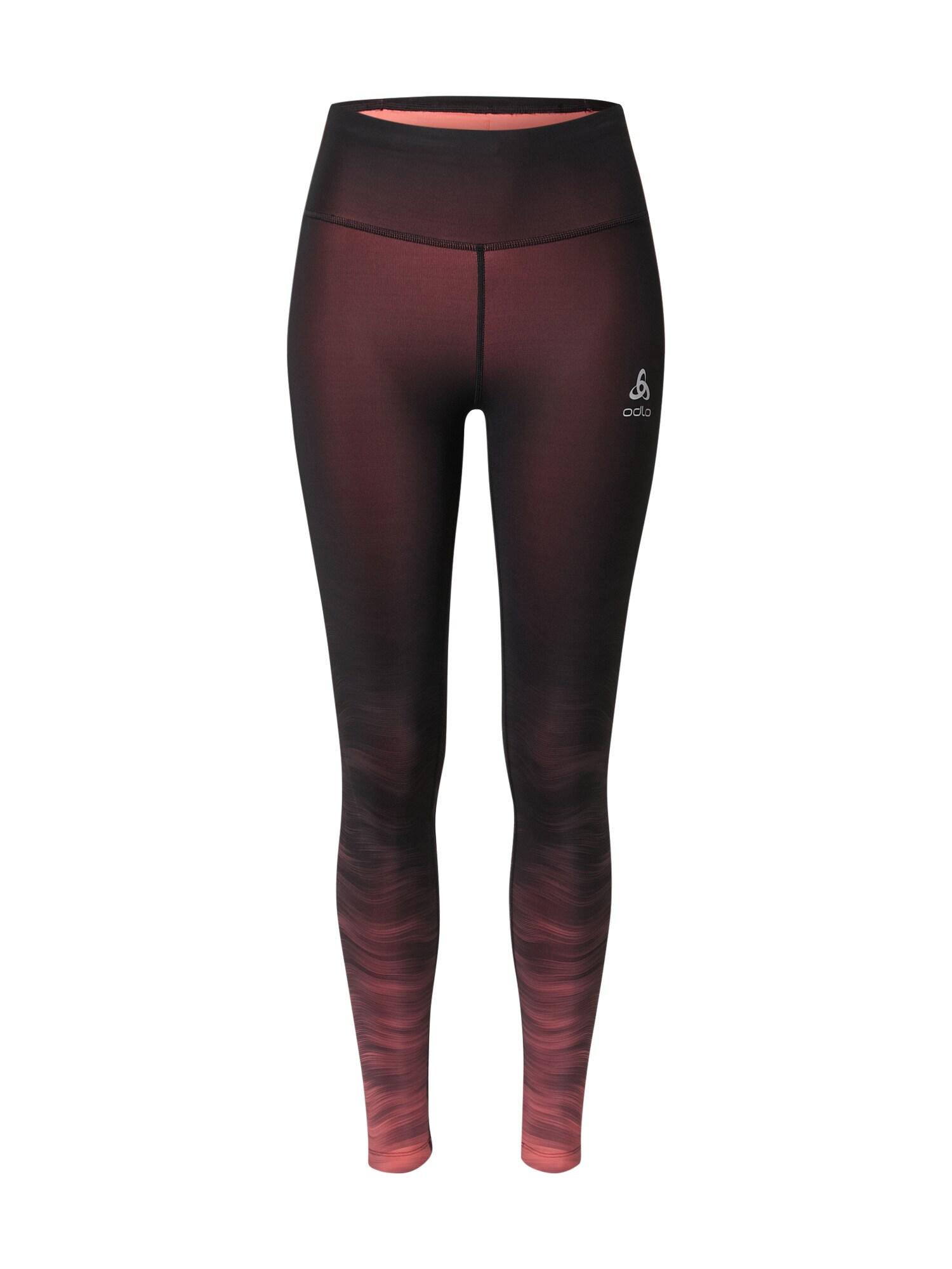 ODLO Sportinės kelnės juoda / šviesiai raudona
