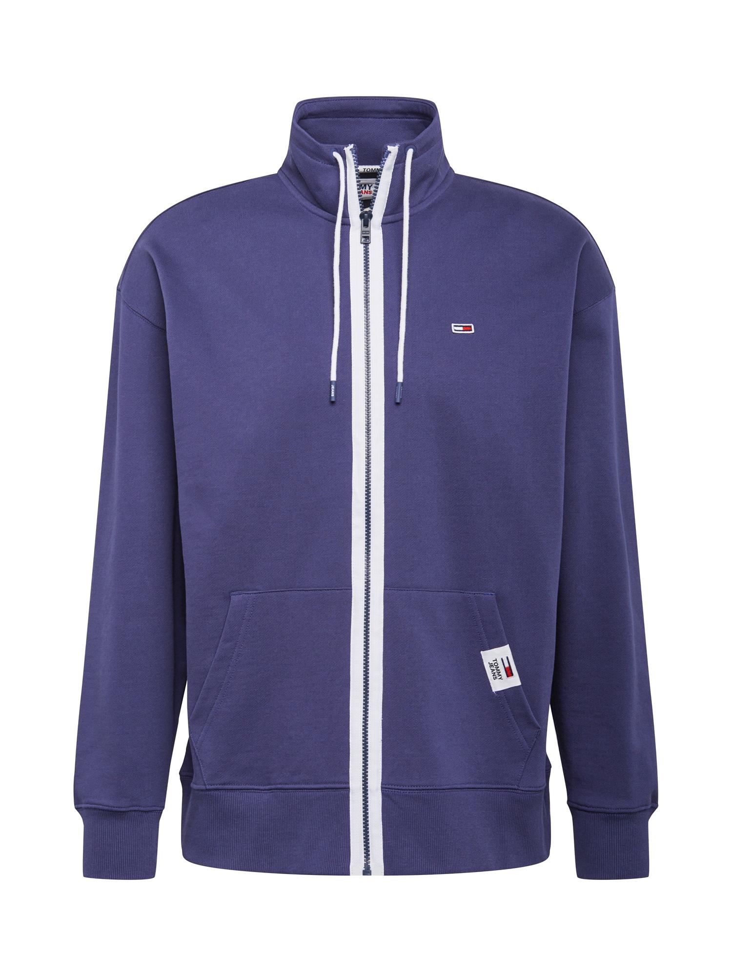 Tommy Jeans Džemperis tamsiai mėlyna / balta