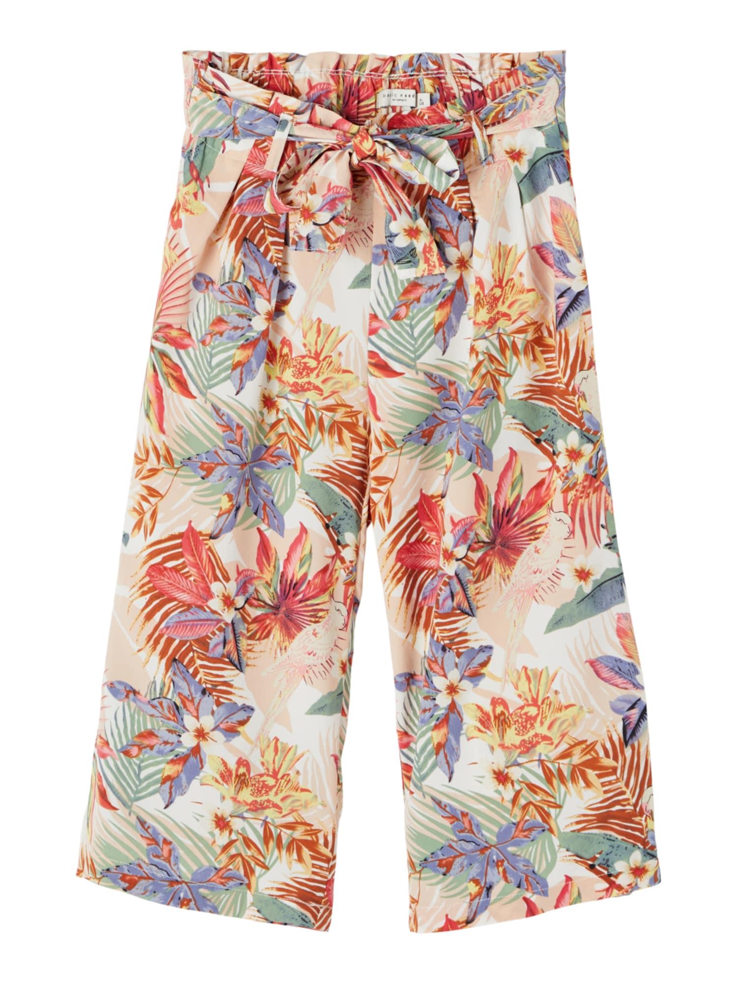 NAME IT Kalhoty 'Vinaya'  pastelově oranžová / pastelově zelená / humrová / kouřově modrá / korálová