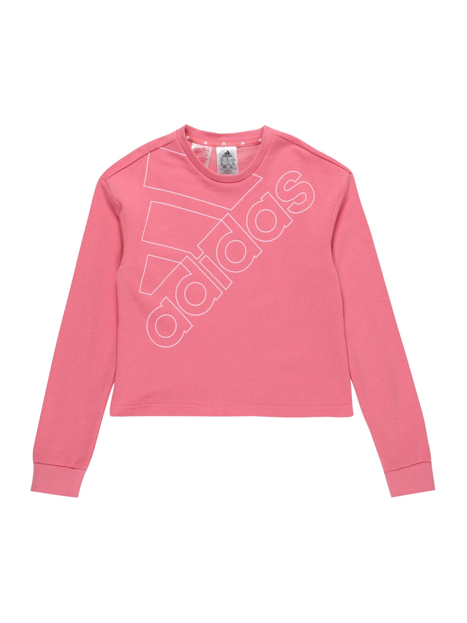 ADIDAS PERFORMANCE Sportinio tipo megztinis šviesiai rožinė / balta