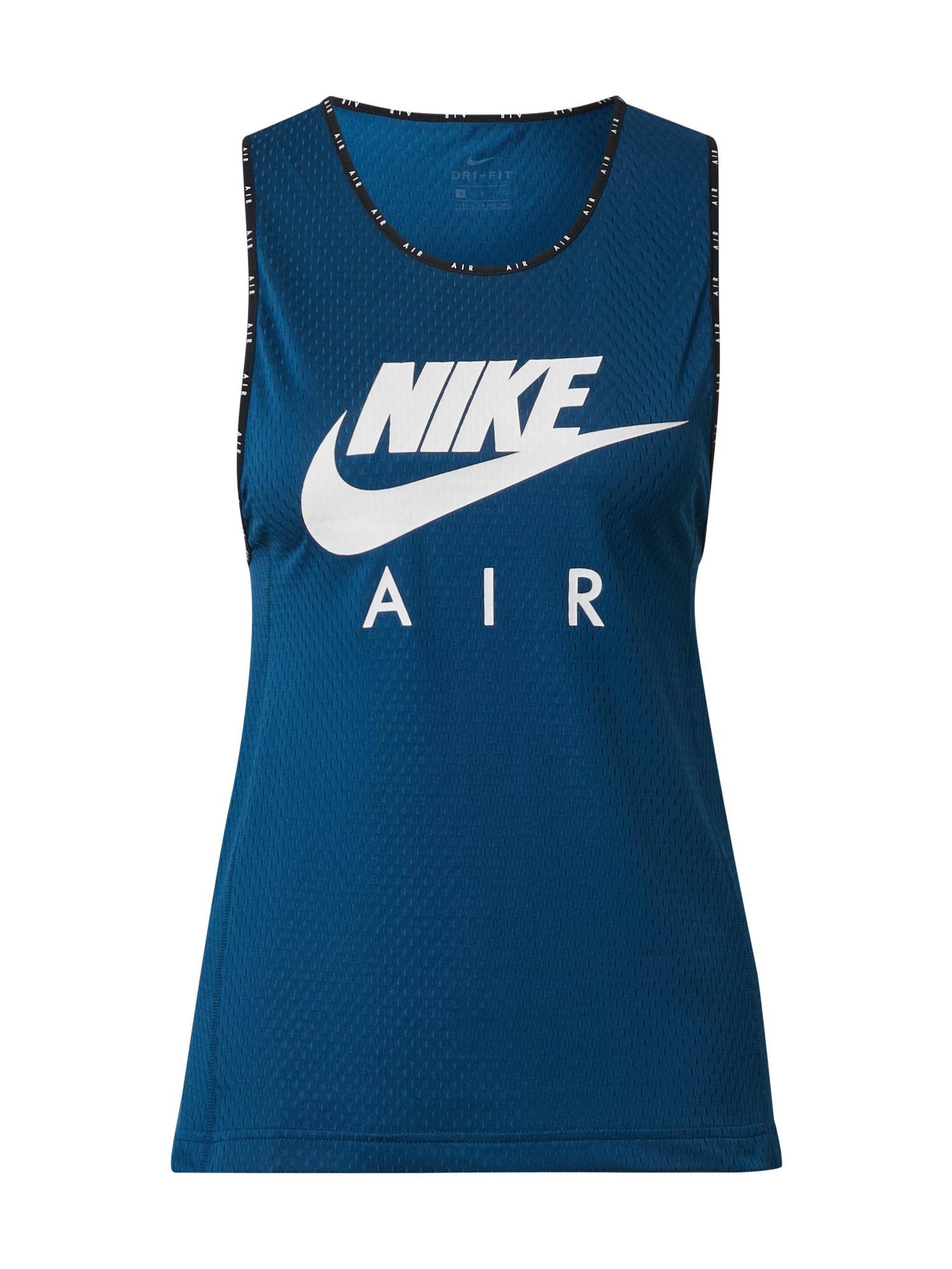 NIKE Sportovní top  bílá / marine modrá