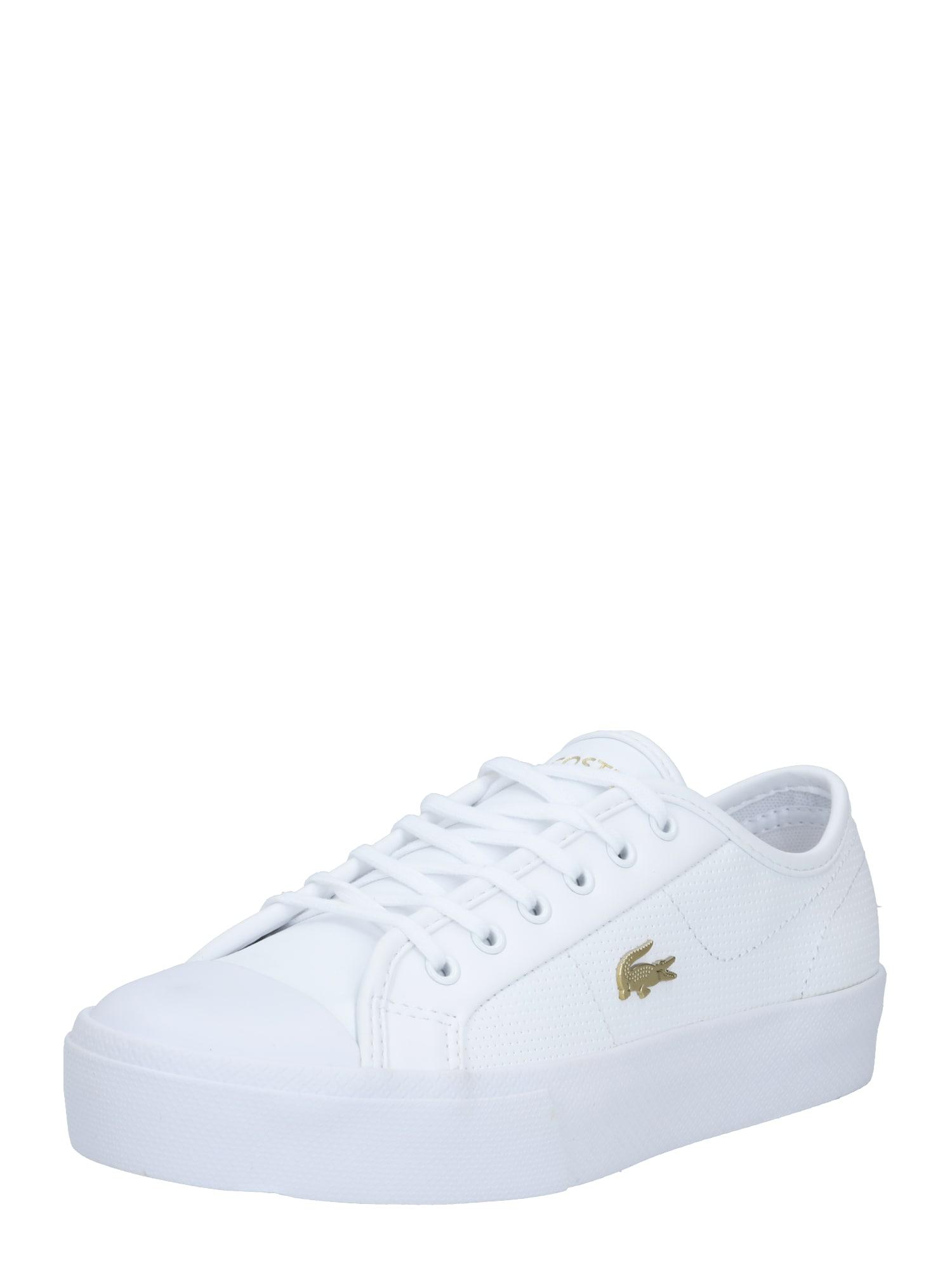LACOSTE Tenisky 'Ziane Plus Grand 01201CFA'  zlatě žlutá / bílá