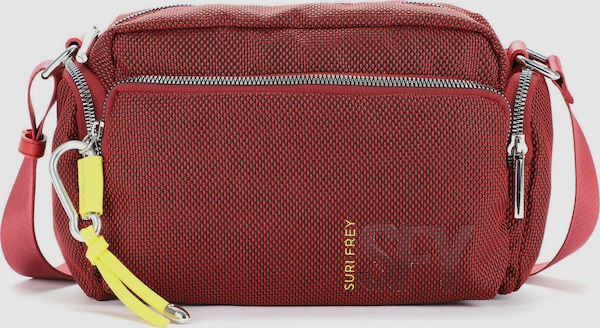 Modische Umhängetasche von Suri Frey in elegantem Design mit Reißverschlussfach auf der Vorderseite. Die Tasche bietet mehrere Fächer für Wertsachen, Handy und mehr und einen verstellbaren Umhängeriemen.