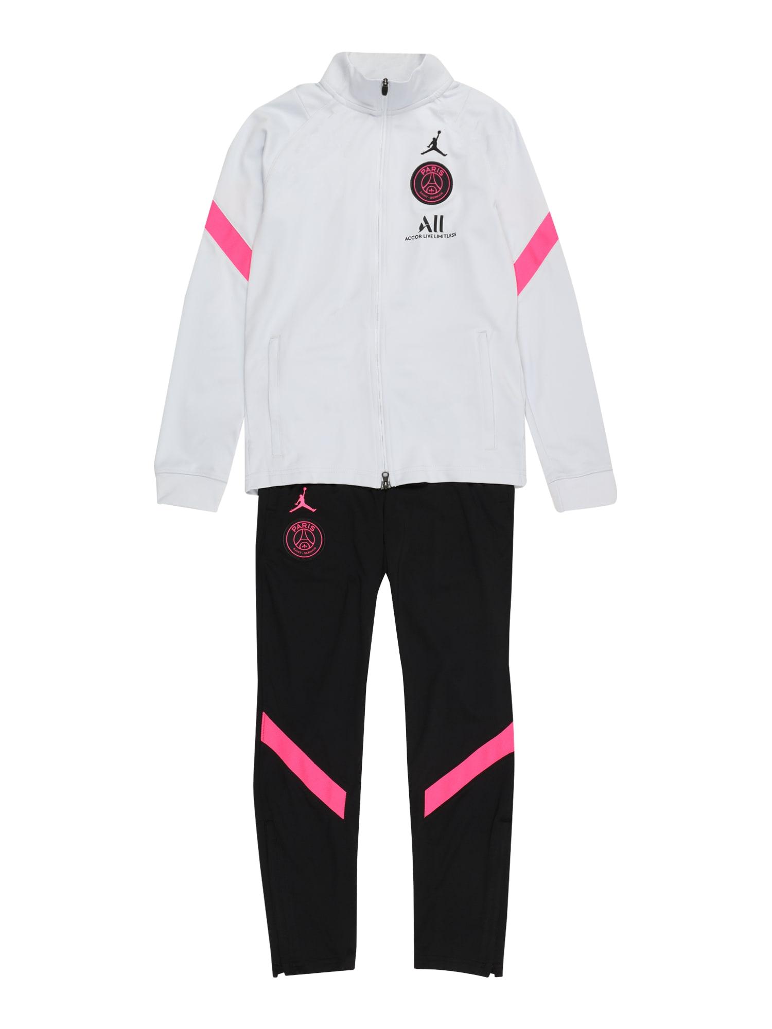 NIKE Treniruočių kostiumas 'Paris Saint-Germain Strike' juoda / balta / rožinė