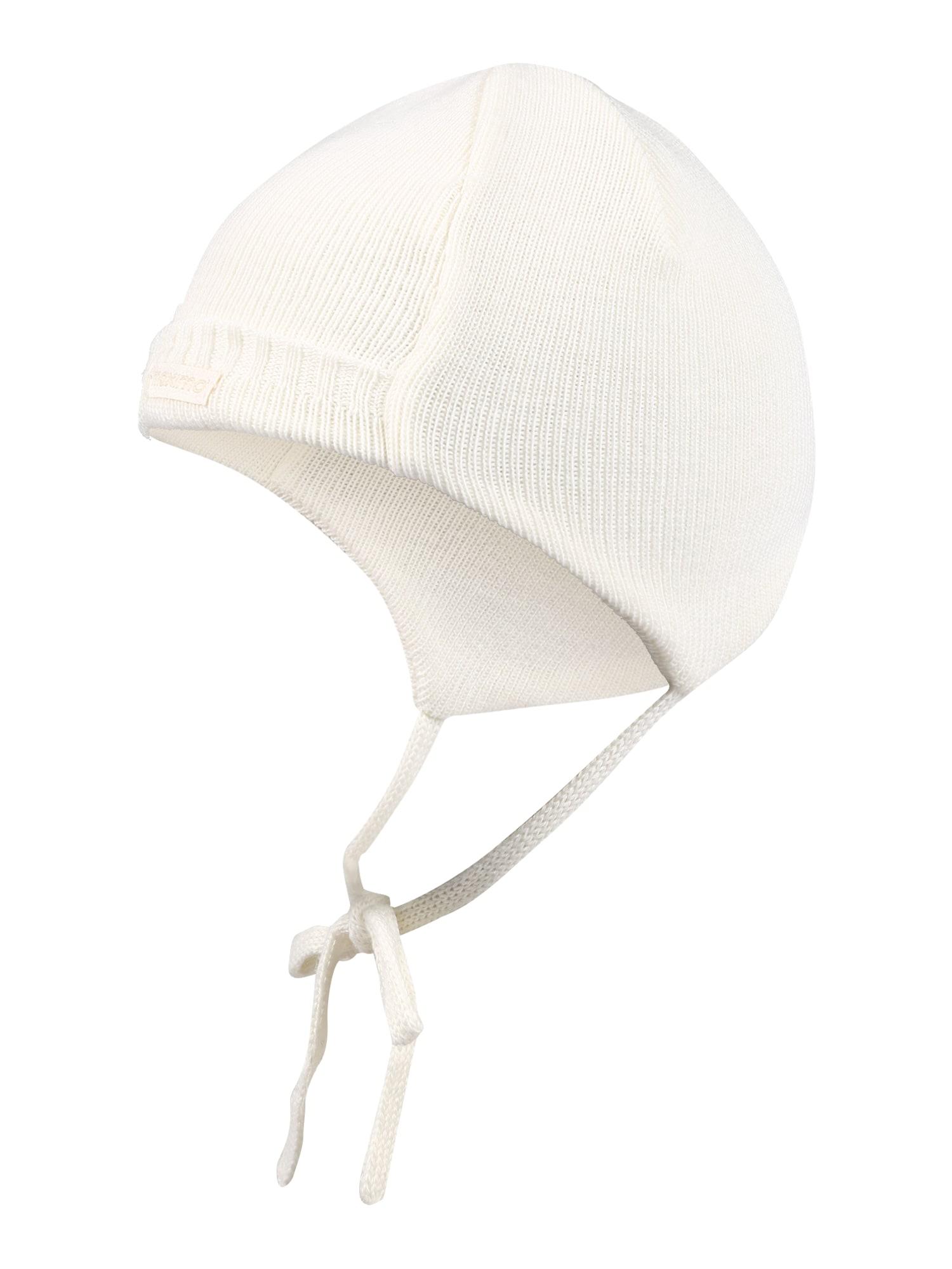 MAXIMO Megzta kepurė 'Chris' vilnos balta