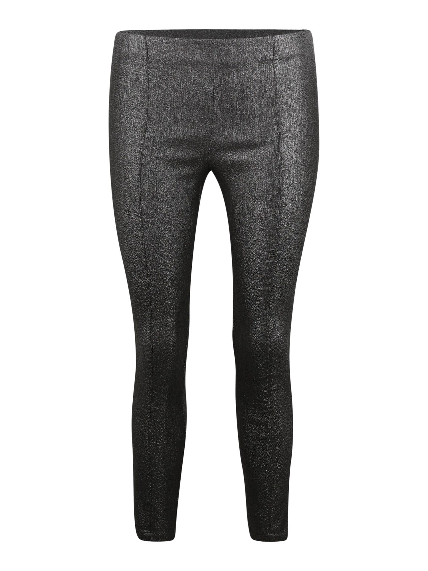 Y.A.S (Petite) Kalhoty 'Taylor'  černá / stříbrná