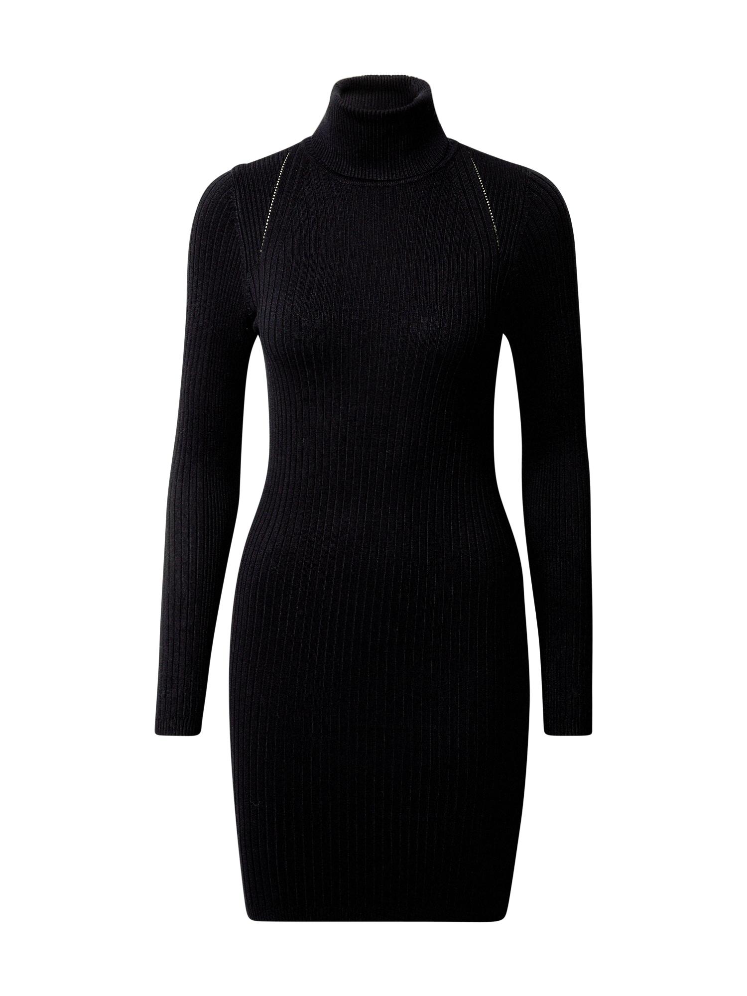 ONLY Úpletové šaty 'Elly'  černá