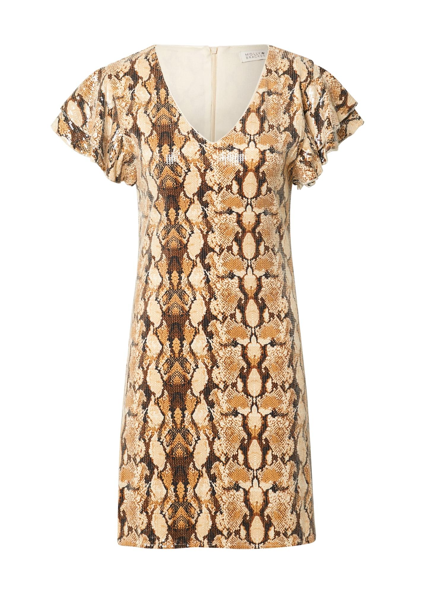 Molly BRACKEN Kokteilinė suknelė ruda / ruda (konjako) / smėlio spalva