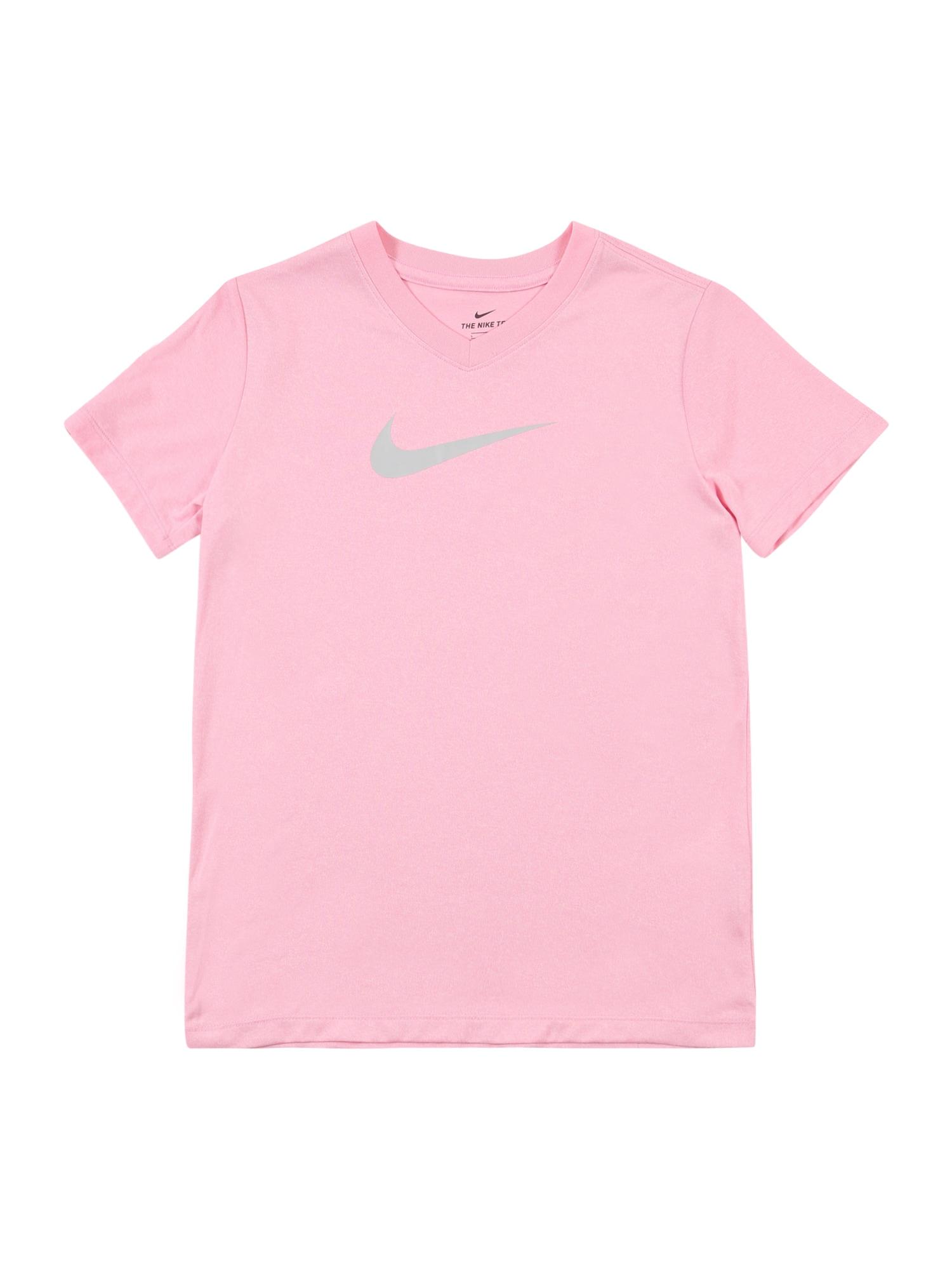 NIKE Funkční tričko  šedá / světle růžová