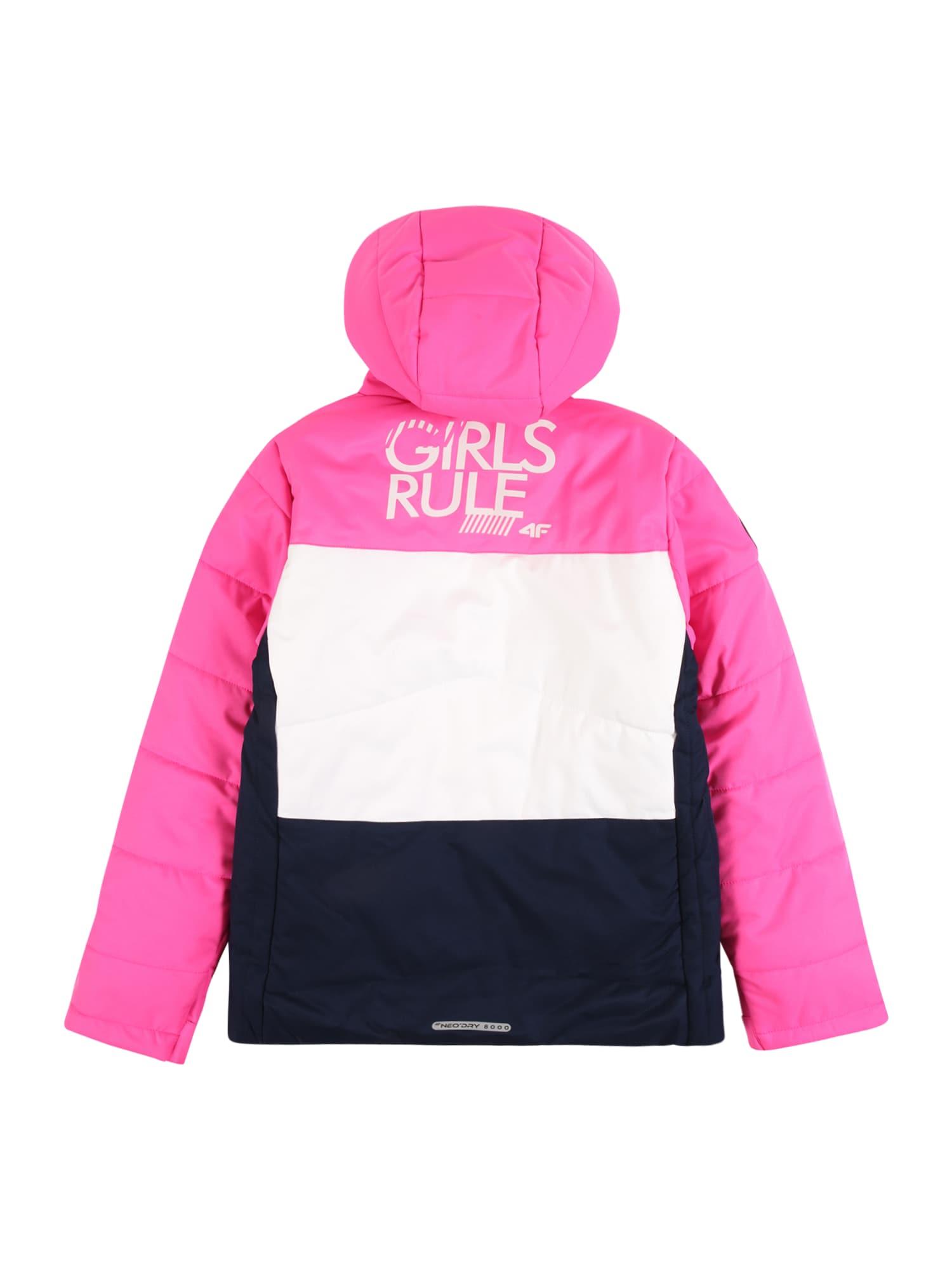 4F Outdoorjacka  vit / rosa / svart