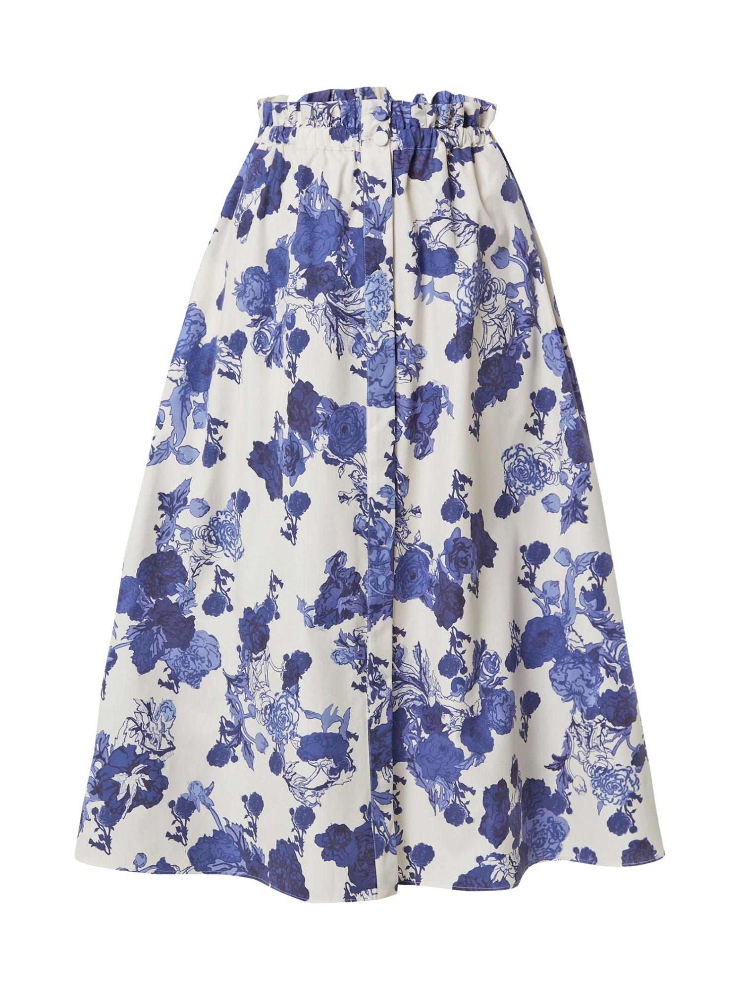 """MAX&Co. Sijonas balta / sodri mėlyna (""""karališka"""") / mėlyna dūmų spalva"""