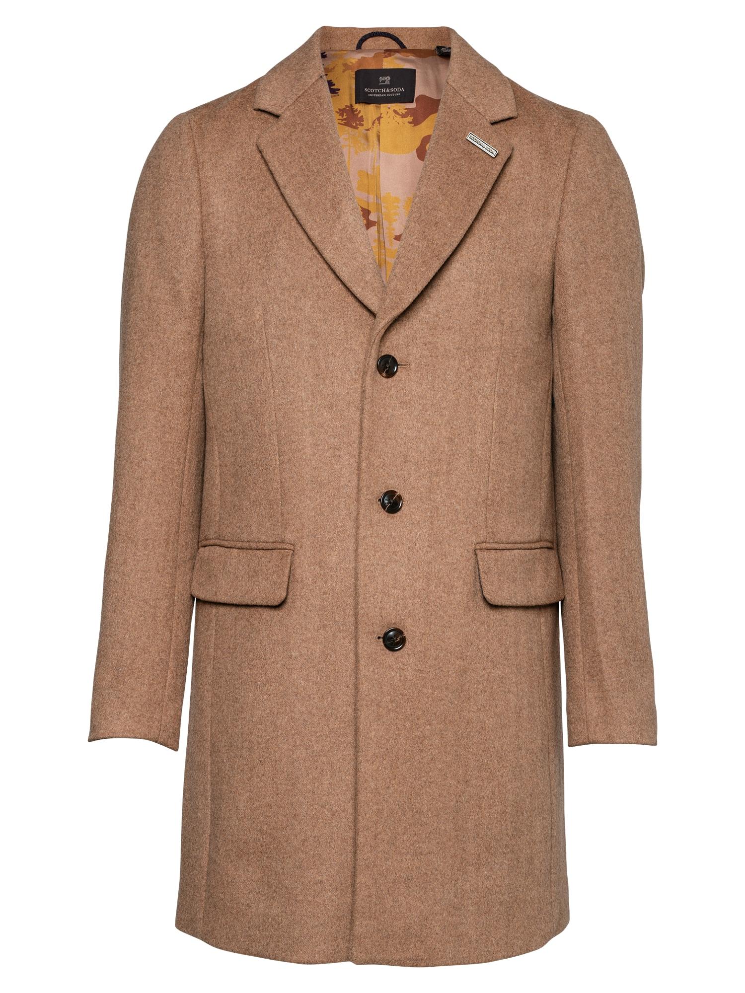 SCOTCH & SODA Demisezoninis paltas margai ruda