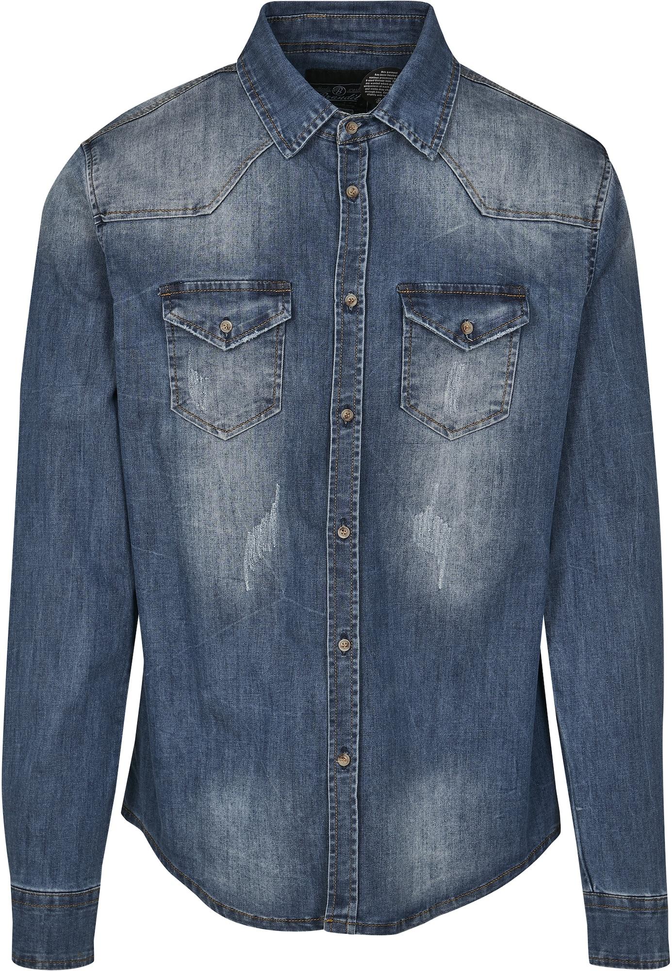 Brandit Marškiniai tamsiai (džinso) mėlyna