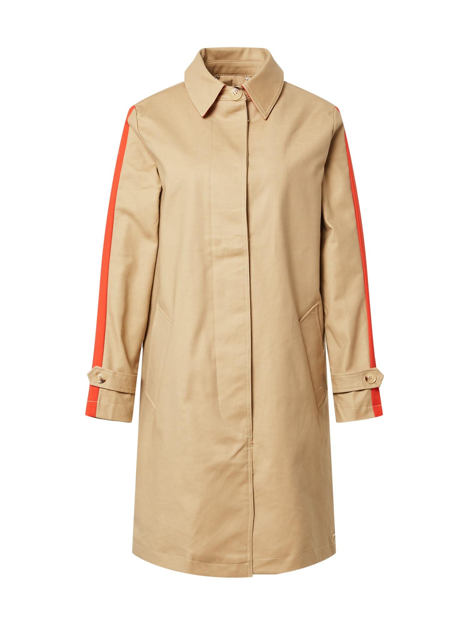 RINO & PELLE Demisezoninis paltas smėlio spalva / raudona
