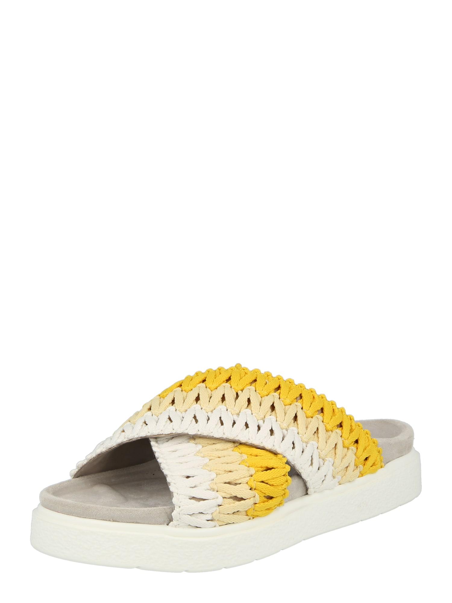 INUIKII Šlepetės geltona / smėlio spalva / balta