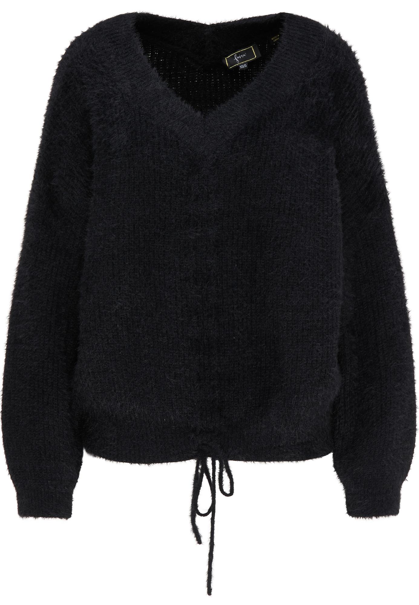 faina Laisvas megztinis juoda