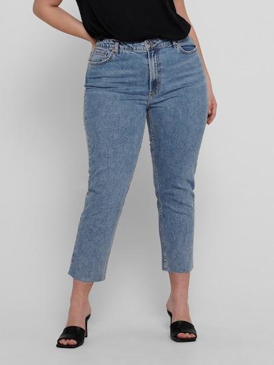 Only Carmakoma Mily Highwaist-Jeans mit verkürztem Bein und ausgefranstem Saum