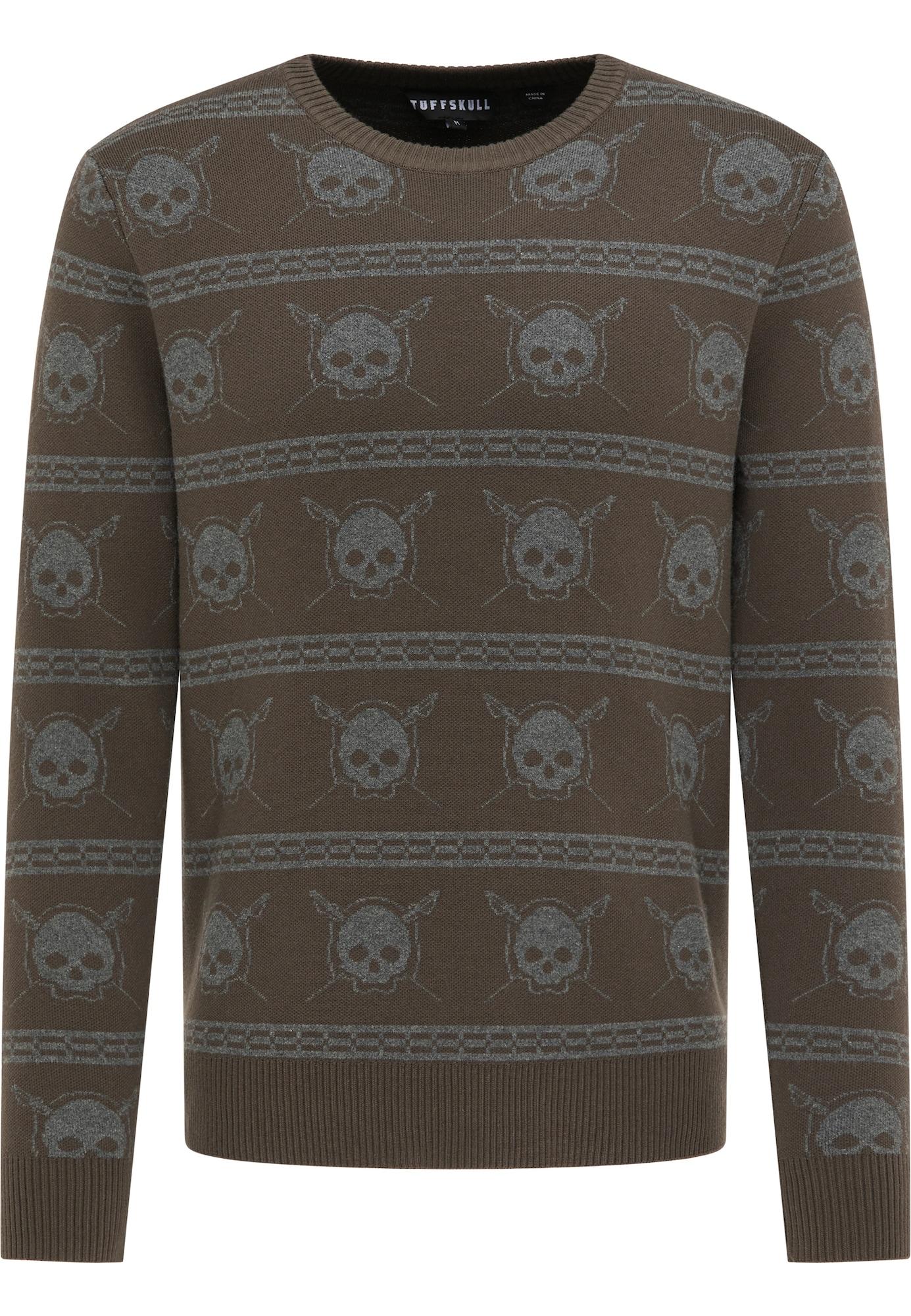 TUFFSKULL Megztinis alyvuogių spalva / rausvai pilka