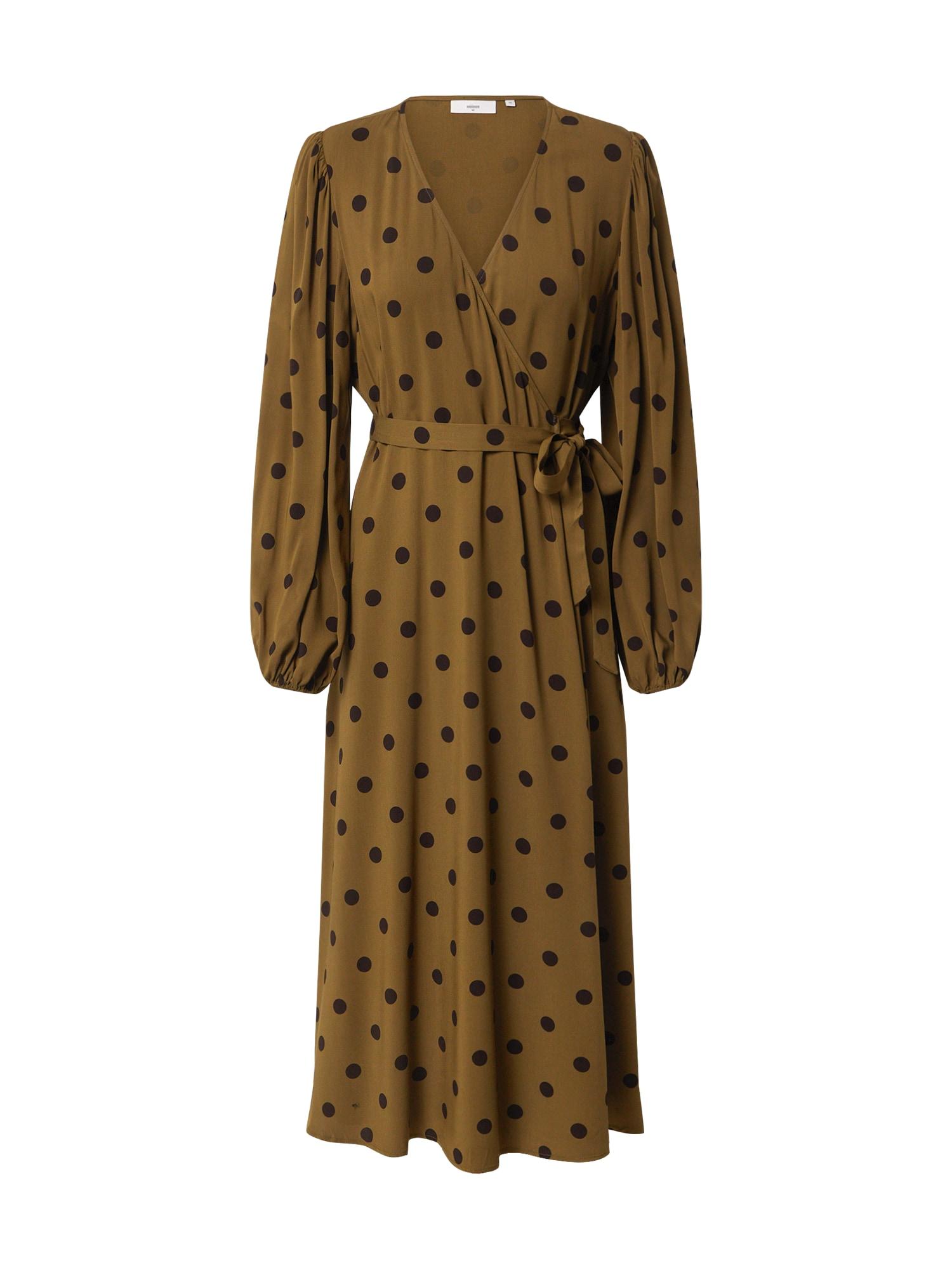 minimum Suknelė alyvuogių spalva / balta