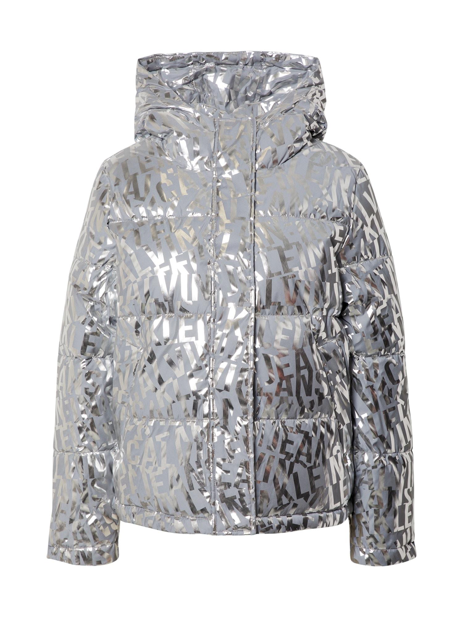 Calvin Klein Jeans Žieminė striukė sidabrinė