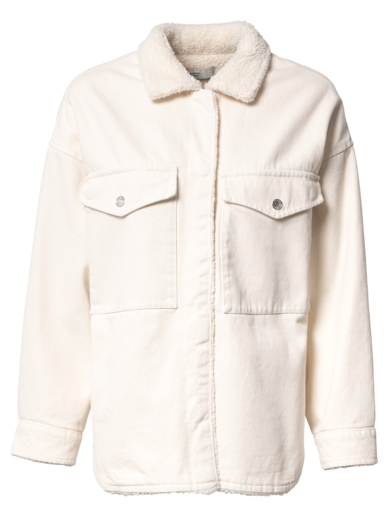 Gina Tricot Přechodná bunda  bílá