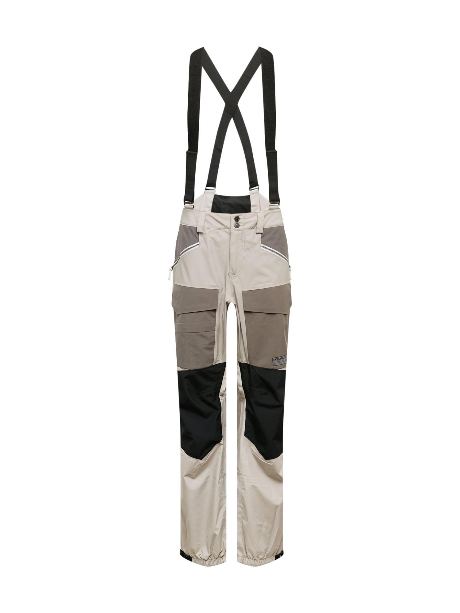 BURTON Sportinės kelnės šviesiai pilka / juoda / rausvai pilka