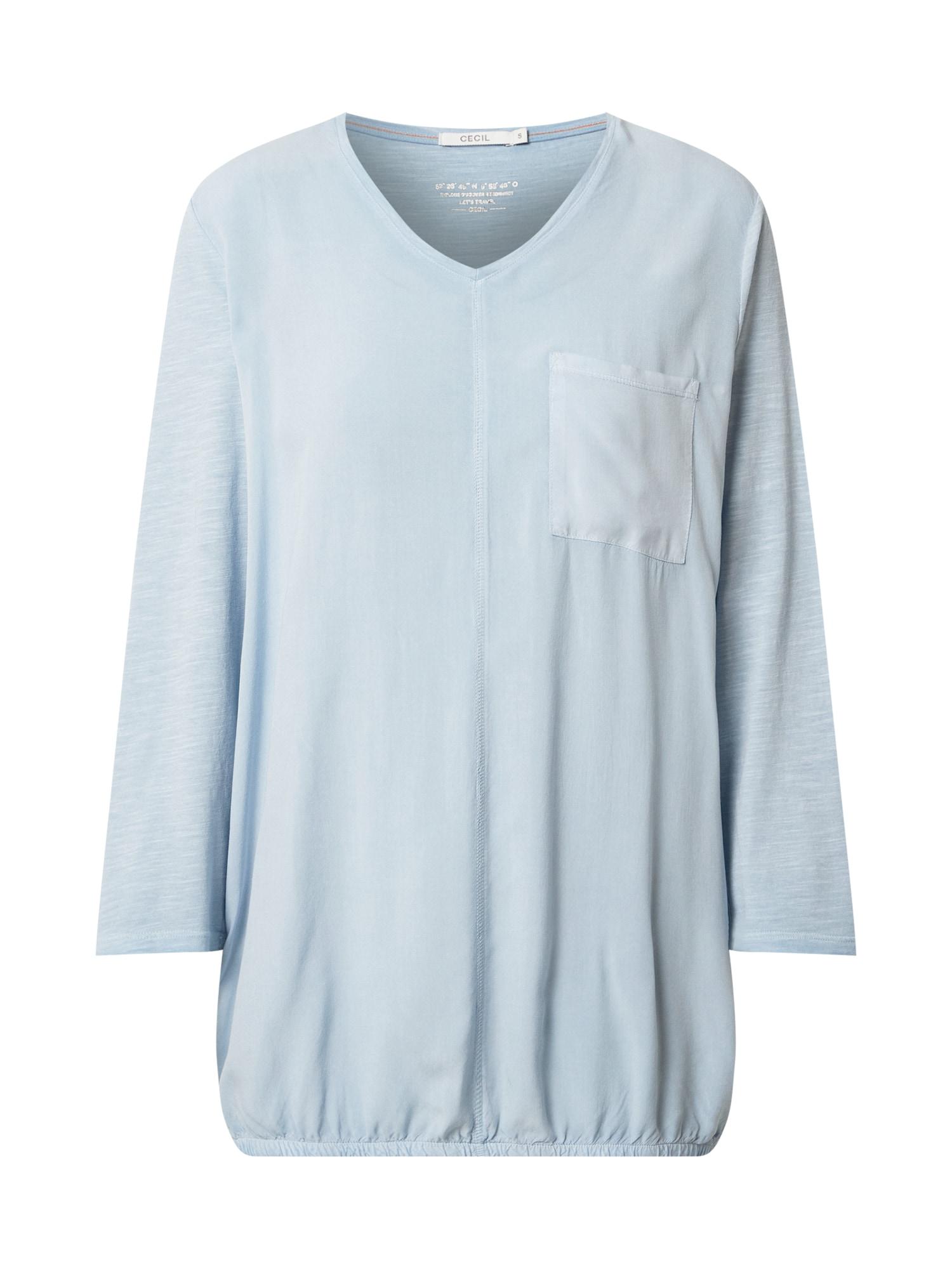 CECIL Marškinėliai šviesiai mėlyna