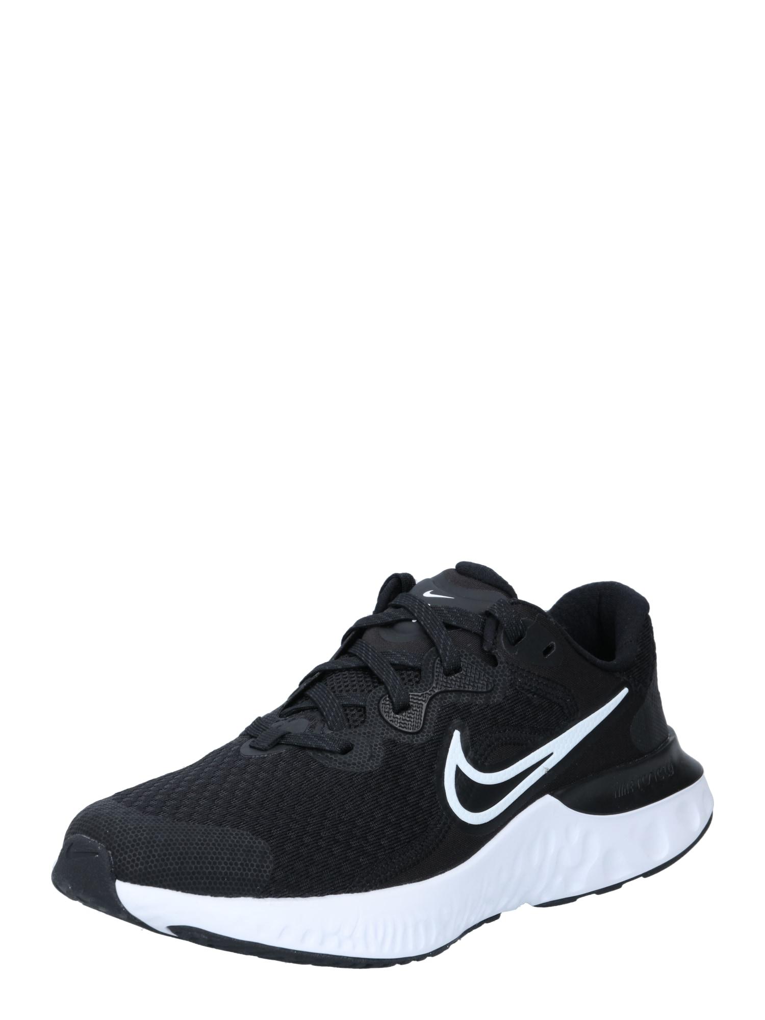 NIKE Bėgimo batai juoda / balta