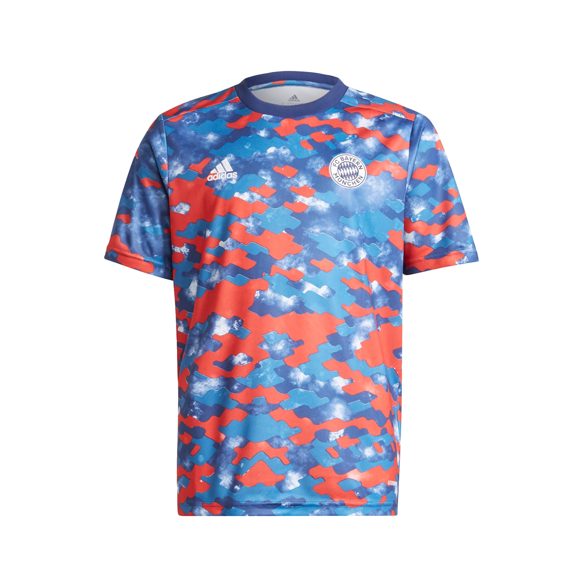 ADIDAS PERFORMANCE Sportiniai marškinėliai 'FC Bayern München' mėlyna / balta / oranžinė-raudona / šviesiai mėlyna